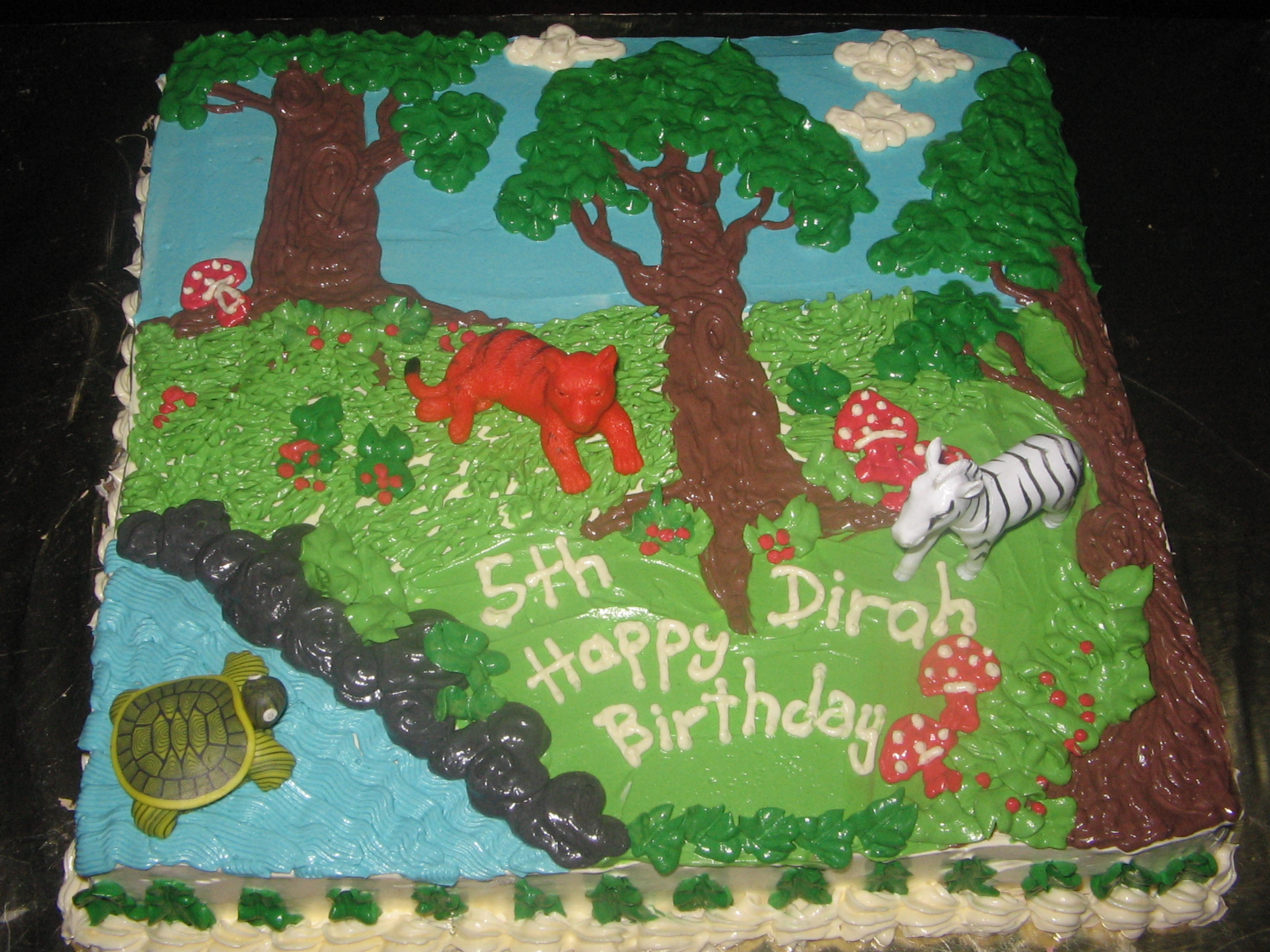 Birthday Cake Ideas Jungle Theme : Birthday Cake   Jungle Theme linacupcakecreations