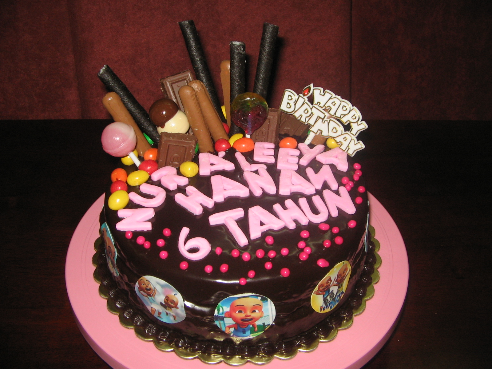 Fine Kids Birthday Cake Chocolate Moist Cake With Chocolate Heaven Personalised Birthday Cards Beptaeletsinfo