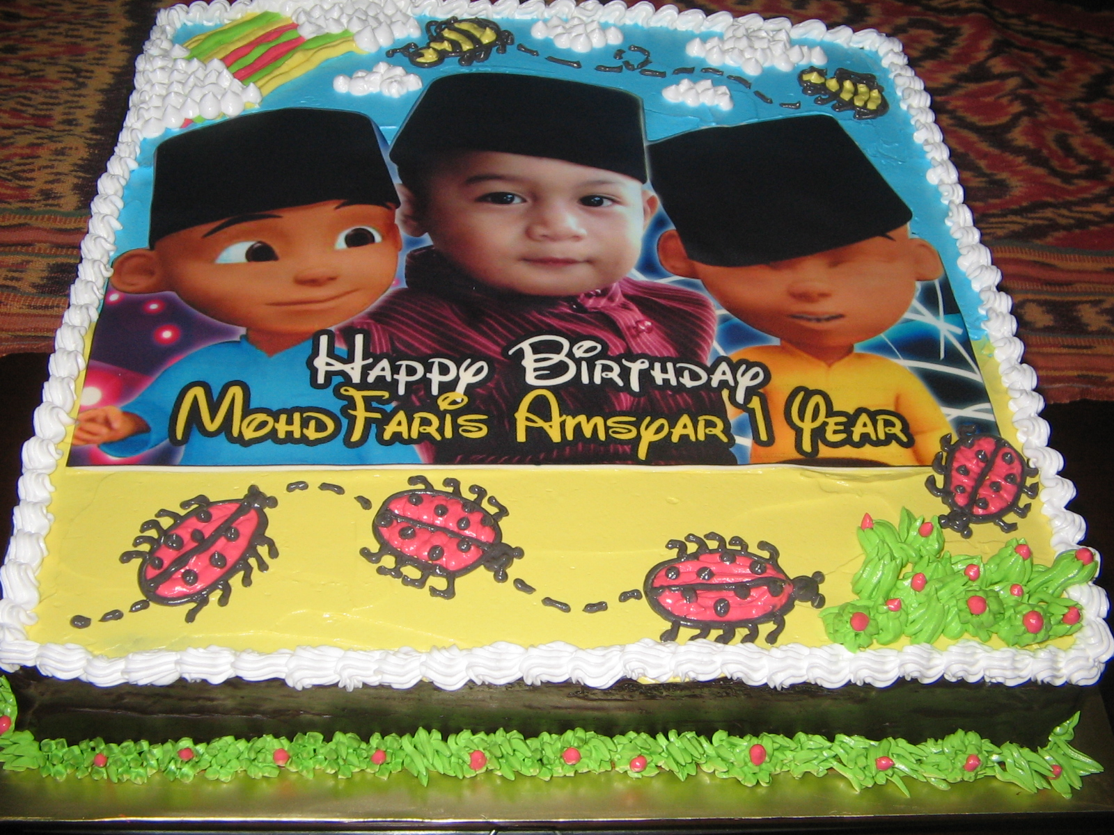 Chocolate Moist Cake Upin Ipin Theme linacupcakecreations