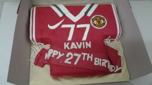 Butter Cake Fondant with MU Jersy theme