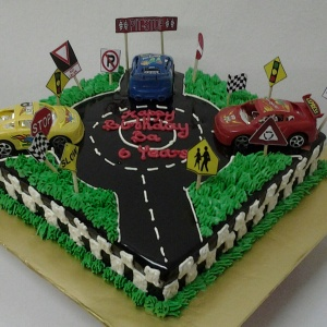 Chocolate Moist Cake Theme : Cars & Traffic