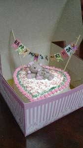 Teady Bear Miniature on Cake...